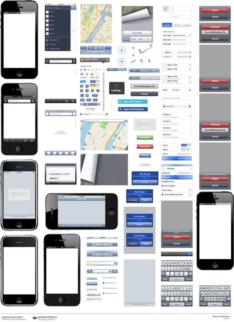 iPhone Visio Stencil 2.0 (Yahoo) – Preview of Stencil